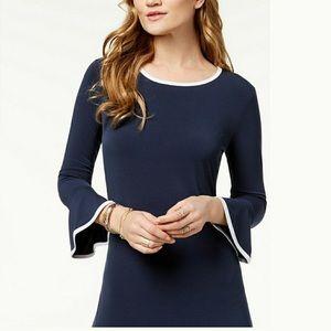 Micheal Kors bell sleeve Navy Blue Dress